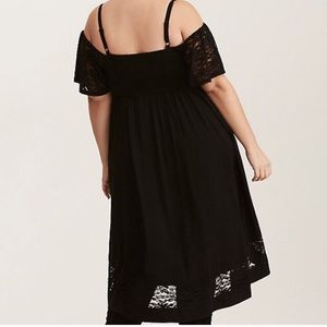 torrid Dresses - Torrid Black Lace Hi-lo Chold Shoulder Dress